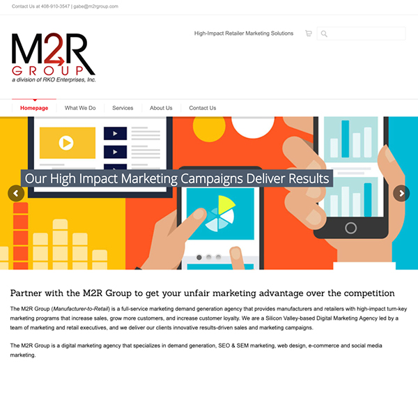 M2R full service marketing agency website