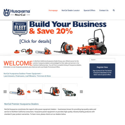 Nor Cal Power Equipment Website