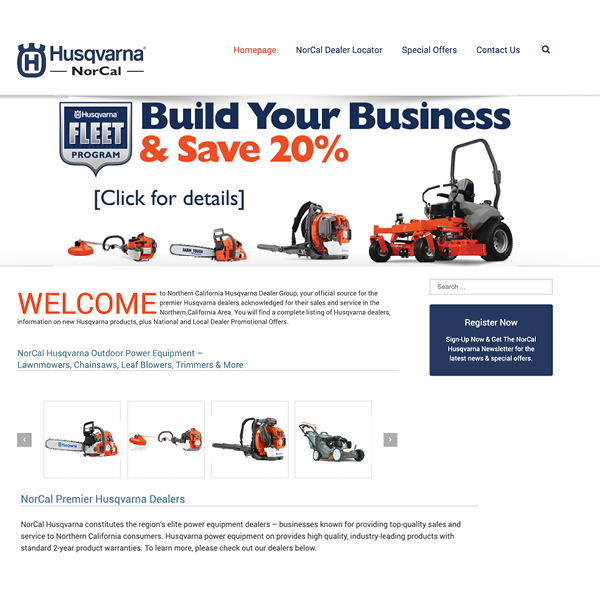 Nor Cal Power Equipment Website