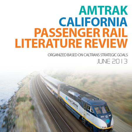 Amtrak California Passenger Rail Literature Review Report